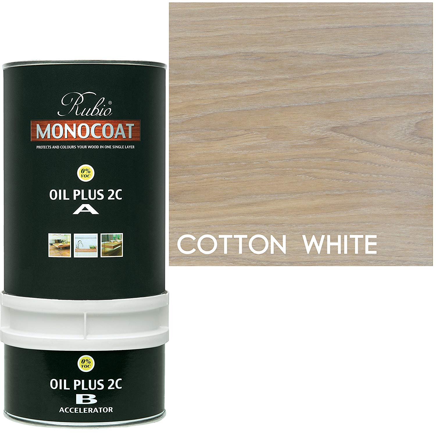 Rubio Monocoat Oil Plus 2C - Cotton white