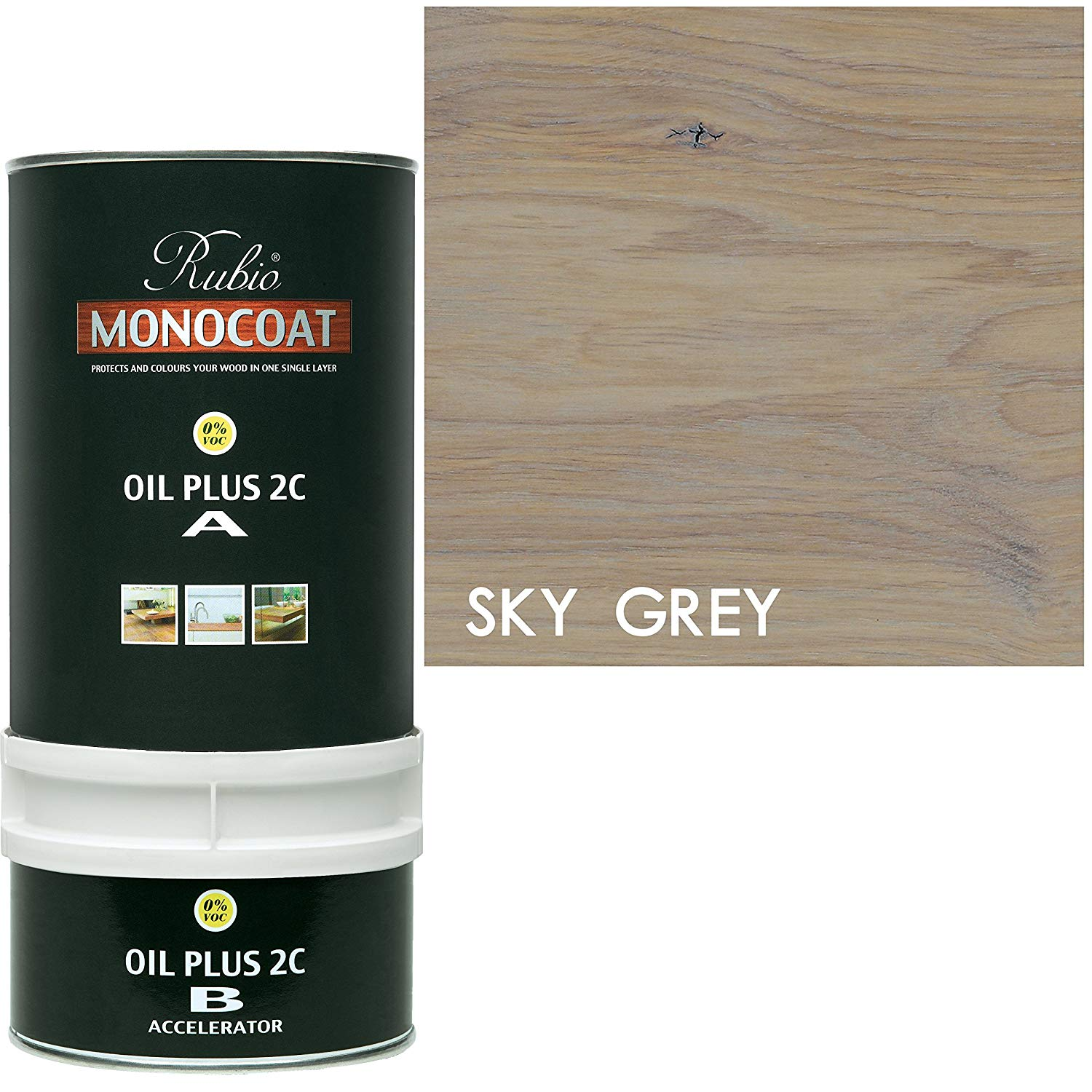 Rubio Monocoat Oil Plus 2C - Sky grey